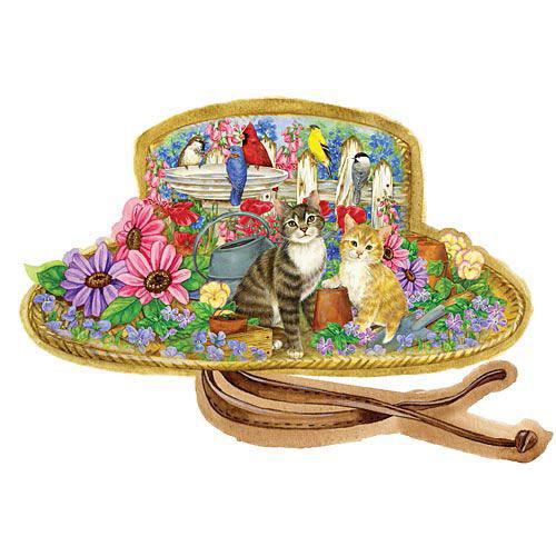 Sunshine Garden Hat Shaped 300 Large Piece Jigsaw Puzzle