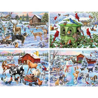 Set of 4: Mary Thompson 500 Piece Jigsaw Puzzles