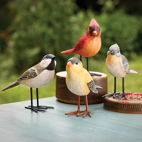 Set Of 4: Charming Song Birds