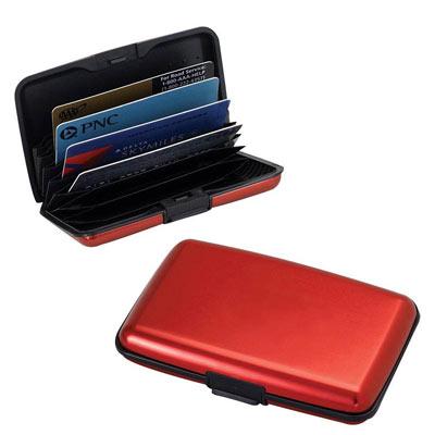 Aluminum Case Wallet- Red
