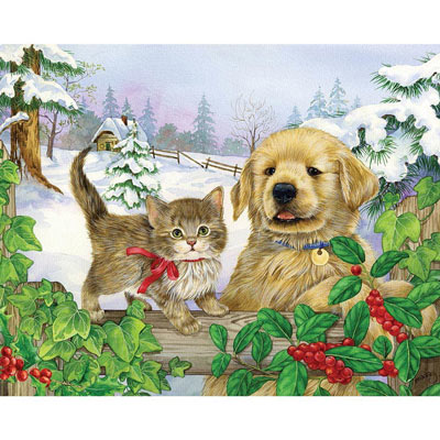 Winter Companions 300 Large Piece Jigsaw Puzzle
