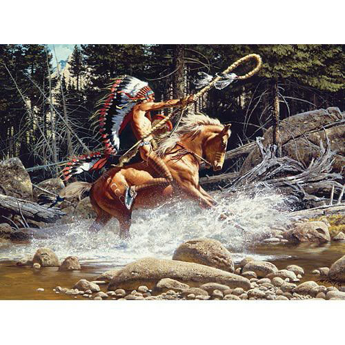 The Challenge 1000 Piece Native American Jigsaw Puzzle