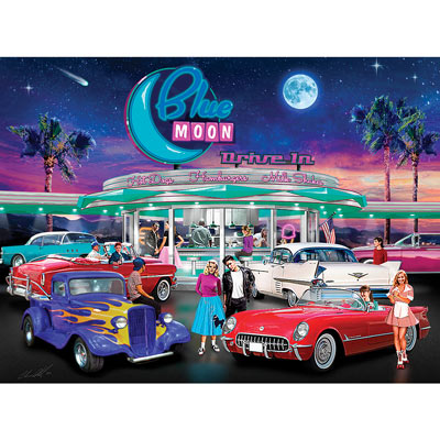 Blue Moon Drive In 1000 Piece Jigsaw Puzzle