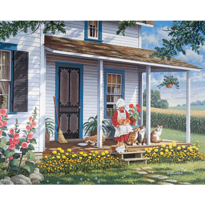 Kitty Corner 500 Piece Jigsaw Puzzle
