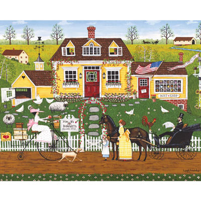 Miss B's Bonnets 500 Piece Jigsaw Puzzle