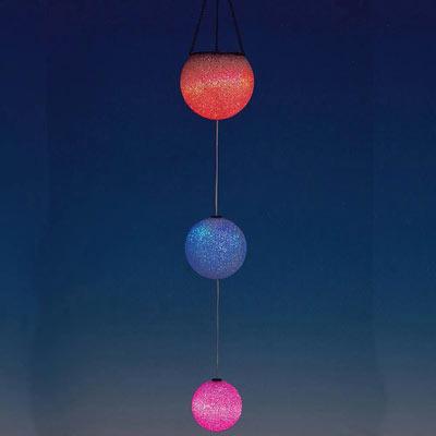 Solar Colour Changing LED Glitter Balls