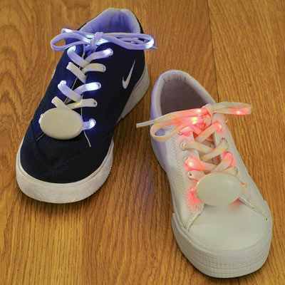 Red Light-Up LED Laces