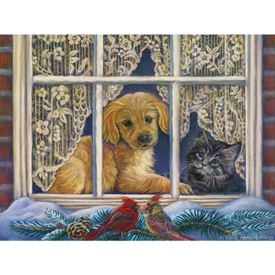 Faithful Friends 500 Large Piece Jigsaw Puzzle