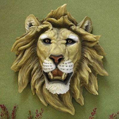 Lion Wall Trophy Sculpture