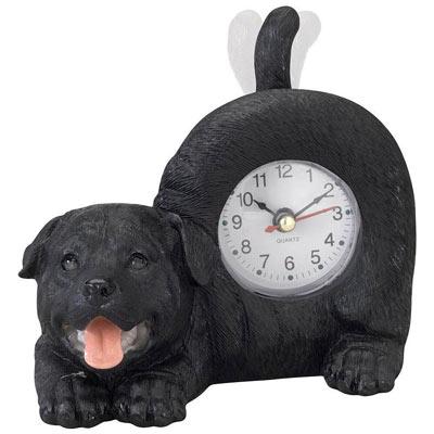 Tail Wagging Labrador Retriever Clock