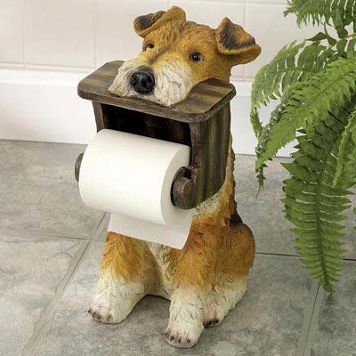 Terrier Toilet Paper Holder