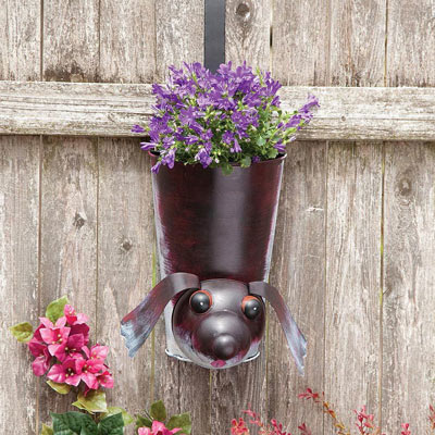 Dog Bobbing Hanging Planter