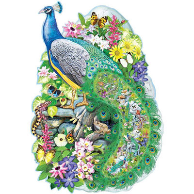 Majestic Peacock 300 Large Piece Jigsaw Puzzle