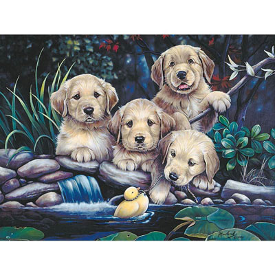 Puppies To The Rescue 300 Large Piece Jigsaw Puzzle