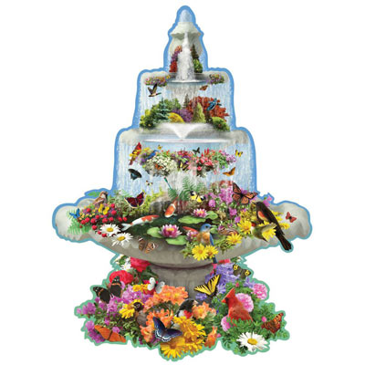 Fountain Fantasy 300 Large Piece Shaped Jigsaw Puzzle