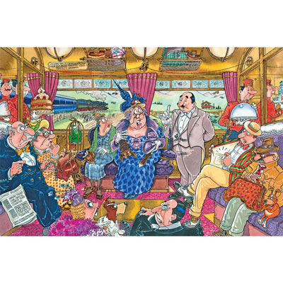 Train Robbery Wasgij 1000 Piece Jigsaw Puzzle