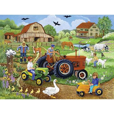 Tractor Trio 1000 Piece Jigsaw Puzzle