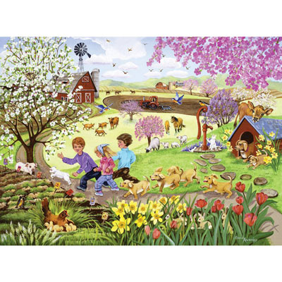 Chasing The Lamb 1000 Piece Jigsaw Puzzle