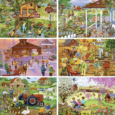 Set of 6: Sandy Rusinko 1000 Piece Jigsaw Puzzles