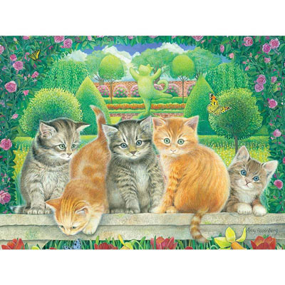 Topiary Kittens 300 Large Piece Jigsaw Puzzle