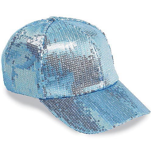Sequined Glamour Cap- Blue