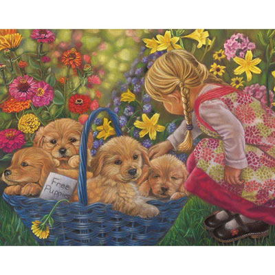 Basket Of Love 100 Large Piece Jigsaw Puzzle