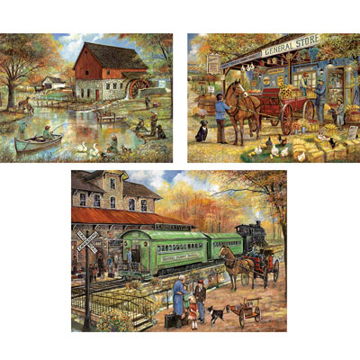 Set of 3: Ruane Manning Country Living 300 Large Piece Jigsaw Puzzles