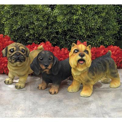 Tan Pug-Adorable Puppy Statue