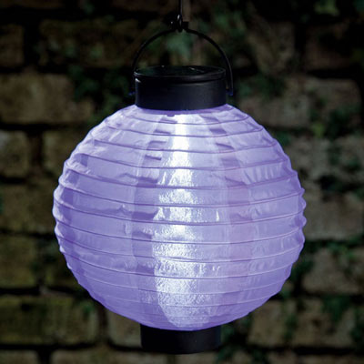 Purple-Solar Outdoor Oriental Garden Lantern
