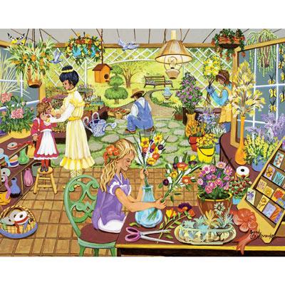 The Flower Shop 500 Large Piece Jigsaw Puzzle
