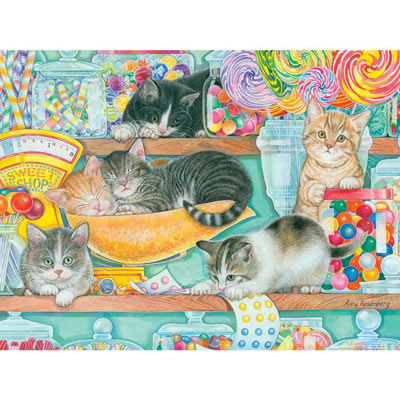 Candy Shop Kittens 500 Large Piece Jigsaw Puzzle