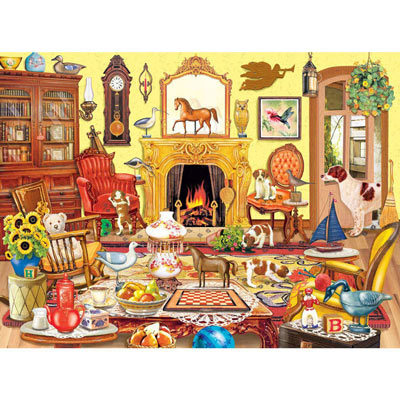Puppies Come To Tea 300 Large Piece Jigsaw Puzzle