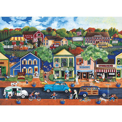 Saturday Afternoon in Judleville 500 Piece Jigsaw Puzzle