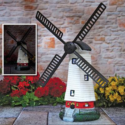 Spinning Solar Windmill Light