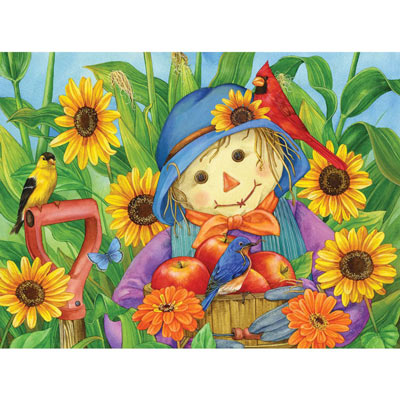 October Scarecrow 300 Large Piece Jigsaw Puzzle