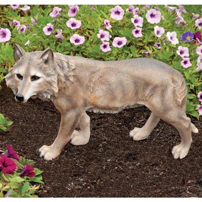 Grey Wolf Sculpture