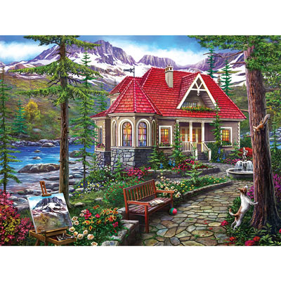 Countryside House 300 Large Piece Jigsaw Puzzle