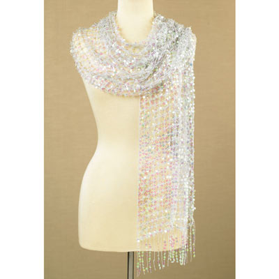 Iridescent Sequined Scarf