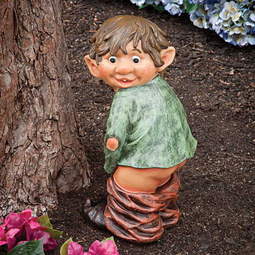 Surprised Garden Elf Sculpture