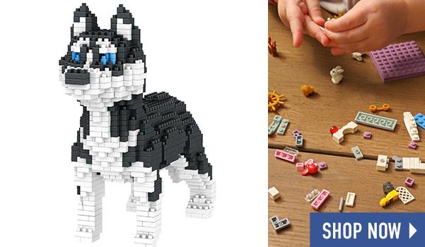 Dog Breed 3-D BlockPuzzle- Husky