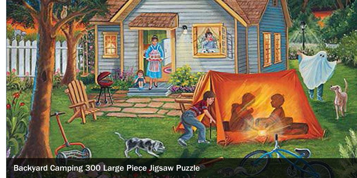 Backyard Camping 300 Large Piece Jigsaw Puzzle