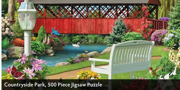 Countryside Park 500 Piece Jigsaw Puzzle