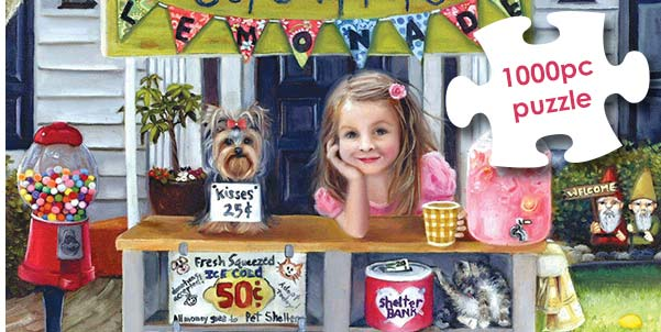 Cups 4 Pups 1000 Piece Jigsaw Puzzle