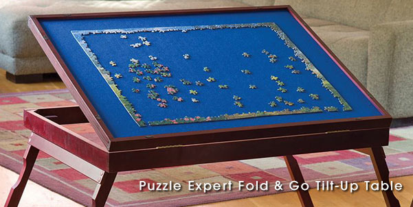 Puzzle Expert Fold & Go Tilt-Up Table