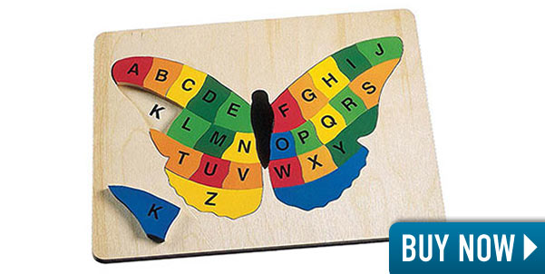Butterfly Alphabet Wooden Puzzle