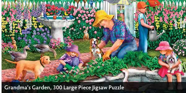 Grandma's Garden 300 Large Piece Jigsaw Puzzle