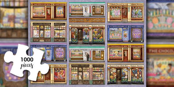 Shopping In London II 1000 Piece Jigsaw Puzzle