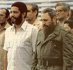 Maurice Bishop and Fidel Castro