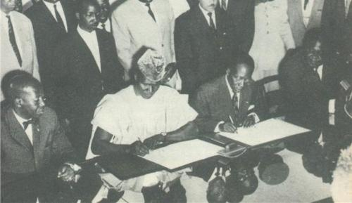 African Leaders at RDA Conference at Bamako, 1957