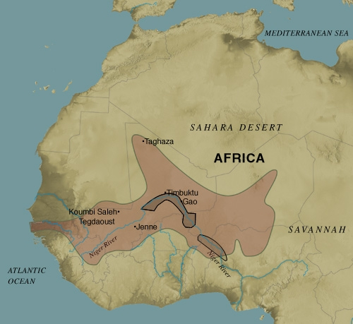 Timbuktu Location On World Map.Songhai Empire Ca 1375 1591 Blackpast